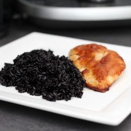 Delicious Black Rice Meal Rice Food Healthy Plate